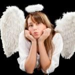 Beautiful blonde angel woman — Stock Photo #5419389