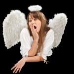 Beautiful blonde angel woman — Stock Photo #5419404