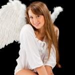 Beautiful blonde angel woman — Stock Photo #5419420