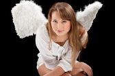 красивая блондинка ангел женщина — Стоковое фото