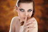 Mode foto av vacker naken kvinna — Stockfoto