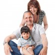 Happy grandparents with handsome grandsons — Stock Photo #5629669