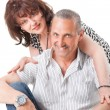 Nice elderly couple - Stock Photo