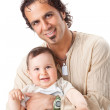 Father and little son studio portrait — Stock Photo #5672021