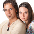 Attractive young couple. Studio portrait — Stock Photo #5672036