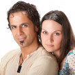 Attractive young couple. Studio portrait — Stock Photo