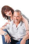 Nice elderly couple — Stock Photo