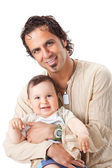 Father and little son studio portrait — Stock Photo