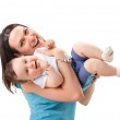 Picture of happy mother with baby — Stock Photo #5682180