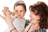 Grandmother with baby — Stock Photo