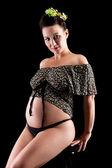 Beautiful adult pregnant woman — Stock Photo