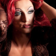Drag-Queen. Man dressed as Woman. — Stock Photo #6402973