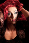 Drag-Queen. Man dressed as Woman. — Stock Photo