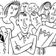 Stock Vector: Audience