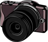 Modern digital camera — Stock Vector