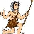 Ancient man - Stock Vector