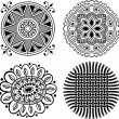 Stock vektor: Vector decorative design elements