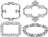 Vector decorative frames — Stock Vector