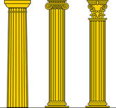 Three columns — Stock Vector