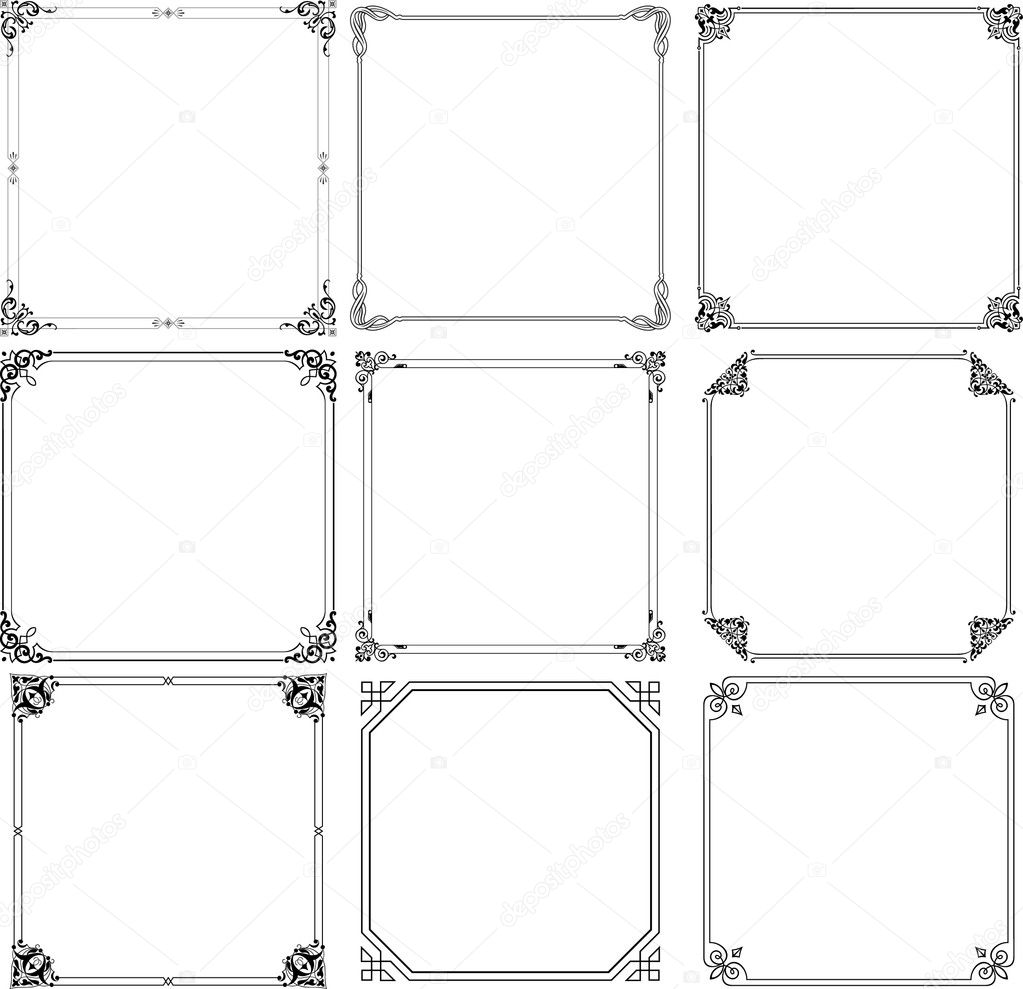 Vector decorative frames on white background  Stock Vector #6289754