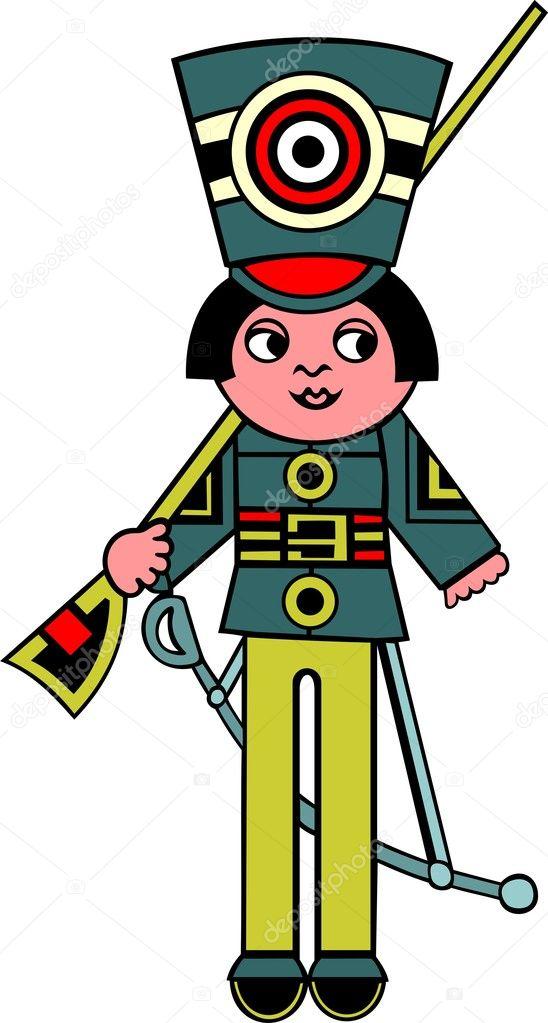 玩具士兵 — 图库矢量图像08