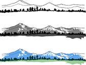 Vector mountains landscape — Stock Vector