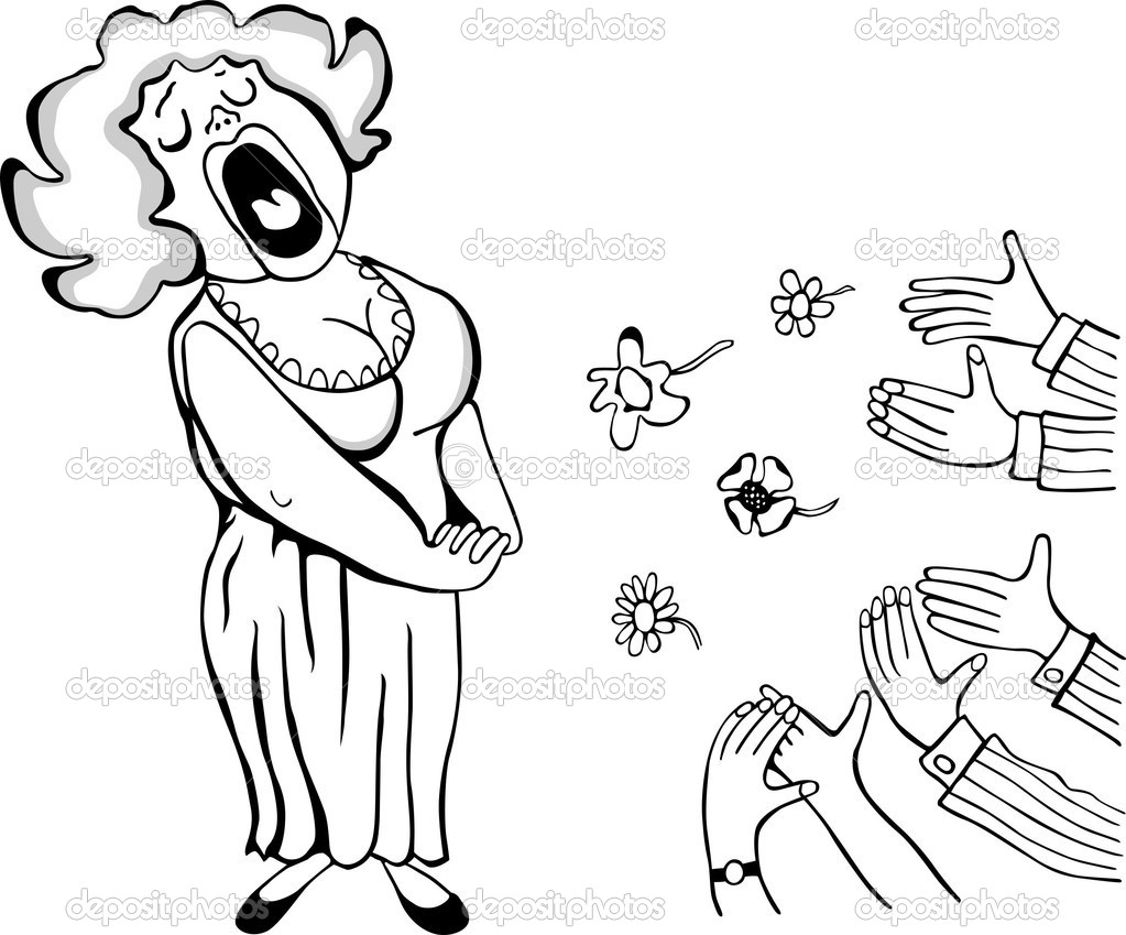 opera singer coloring pages - photo#25