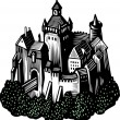 Old castle — Stock Vector