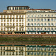 Stock Photo: Buildings Along River Arno in Florence Italy