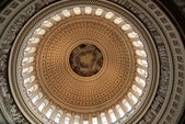 Interior of Dome of US Capitol — Stock Photo