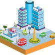 Stock Vector: Isometric city