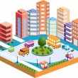Stock Vector: 3D city3