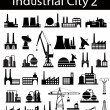 Industrial buildings 2 — Stock Vector