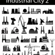 Stock Vector: Industrial buildings 2