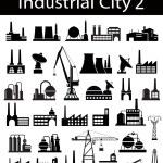 Industrial buildings 2 — Stock Vector