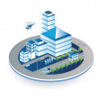 Town in isometric — Stock Vector