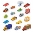 Isometric vehicles - Stock Vector