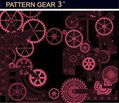 Pattern gear3 — Stock Vector