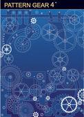 Pattern gear4 — Stock Vector
