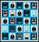 Transport-mosaiken — Stockvektor