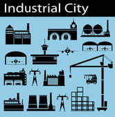 Industrial city — Stock Vector