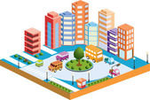 3D city3 — Stock Vector