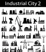 Industrial buildings 2 — Vector de stock