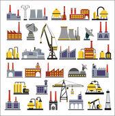 Industrial buildings — Stock Vector