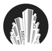 White silhouette — Stock Vector