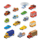 Isometric vehicles — Stock Vector