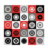 Mosaic of gear — Stock Vector