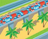 Isometric highway — Stock Vector