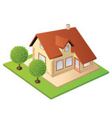 Isometric house — Stock Vector