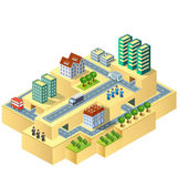 Isometric city — Stock Vector